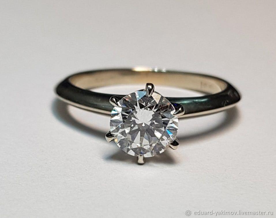 Кольцо с бриллиантом 1,20ct, Кольца, Сочи,  Фото №1