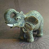 Материалы для творчества ручной работы. Ярмарка Мастеров - ручная работа Силиконовая форма Слон серый. Handmade.