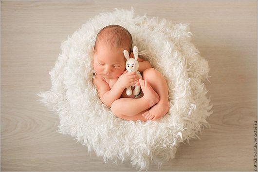 Пледы и одеяла ручной работы. Ярмарка Мастеров - ручная работа. Купить Меховой плед для фотосессий новорожденных. Handmade. Белый, мохер