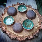"""Посуда ручной работы. Ярмарка Мастеров - ручная работа Комплект розеток """"Лесные озера""""-2. Handmade."""