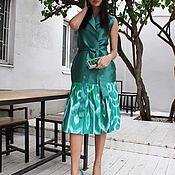 Одежда ручной работы. Ярмарка Мастеров - ручная работа Платье из 100% узбекского шёлка. Handmade.