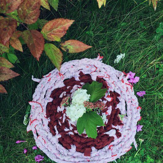 """Текстиль, ковры ручной работы. Ярмарка Мастеров - ручная работа. Купить Коврик универсал """"вишня"""". Handmade. Коврик, троицк"""