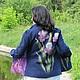 Felted jacket 'Irises', Klimkin Galina. Suit Jackets. Galina Klimkina (gala-klim). My Livemaster. Фото №5