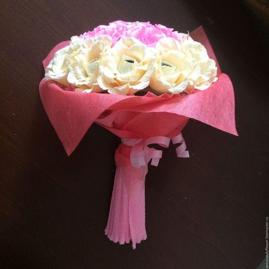 Букеты ручной работы. Ярмарка Мастеров - ручная работа. Купить Букет роз. Handmade. Букет из конфет, подарок, флористические материалы