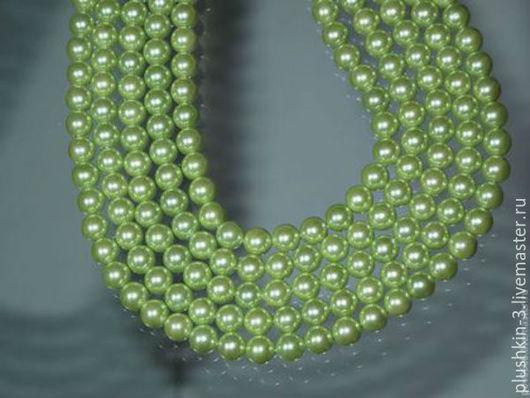 Для украшений ручной работы. Ярмарка Мастеров - ручная работа. Купить Жемчуг зеленый 8 мм А-6. Handmade.