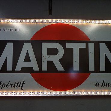 Для дома и интерьера ручной работы. Ярмарка Мастеров - ручная работа Винтажная вывеска Martini 1957г.. Handmade.
