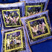 Для дома и интерьера handmade. Livemaster - original item Cushion  Fairies. Handmade.