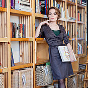 Одежда handmade. Livemaster - original item Wrap dress from a wool mixture with the top,