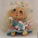 Коллекционные куклы ручной работы. Ярмарка Мастеров - ручная работа. Купить Куколка Маришка. Handmade. Голубой, текстильная кукла, шерсть