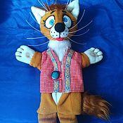 Куклы и игрушки handmade. Livemaster - original item Cat Bonehead. A glove puppet theatre for the play.. Handmade.