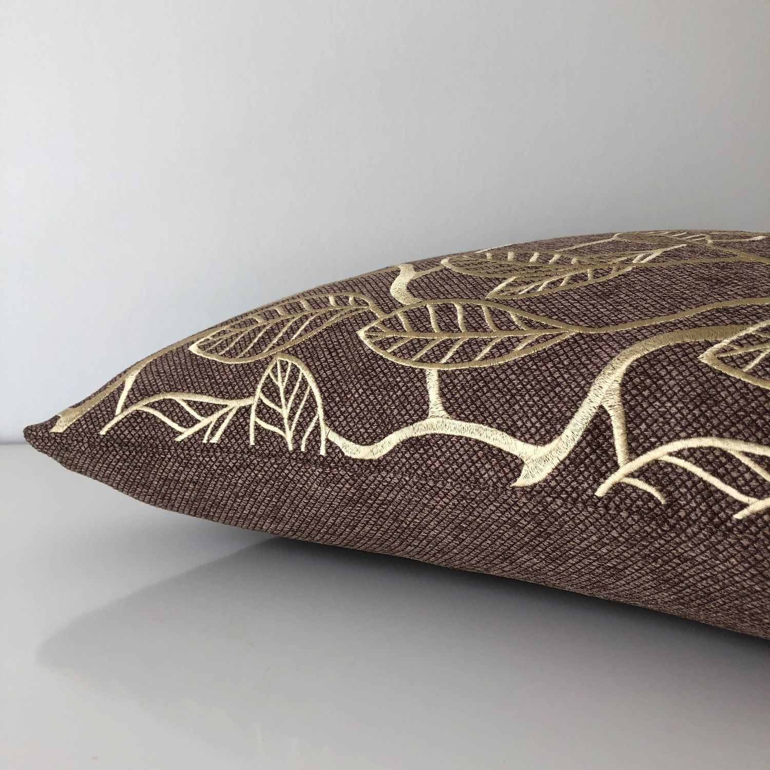 Pillow with embroidery 'Golden leaves', Pillow, Moscow,  Фото №1