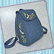handmade. Livemaster - original item Backpack SP-M jeans May. Handmade.