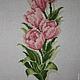 Картины цветов ручной работы. Заказать Цветы: розы, тюльпаны, лилии. ElenaLeo Вышитые картины,браслеты. Ярмарка Мастеров. Зеленый
