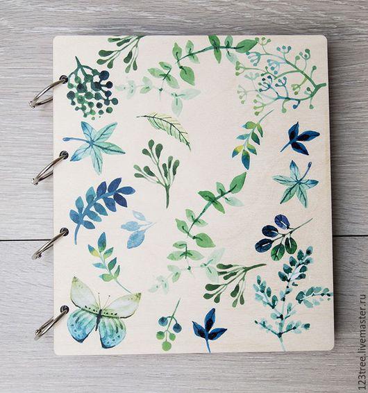 Блокноты ручной работы. Ярмарка Мастеров - ручная работа. Купить Блокнот цветочный. Handmade. Комбинированный, деревянный декор, цветочный, артбук