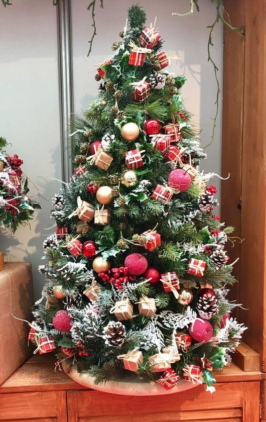Новый год 2017 ручной работы. Ярмарка Мастеров - ручная работа. Купить Настольная елка Лондон. Handmade. Ярко-красный, елка