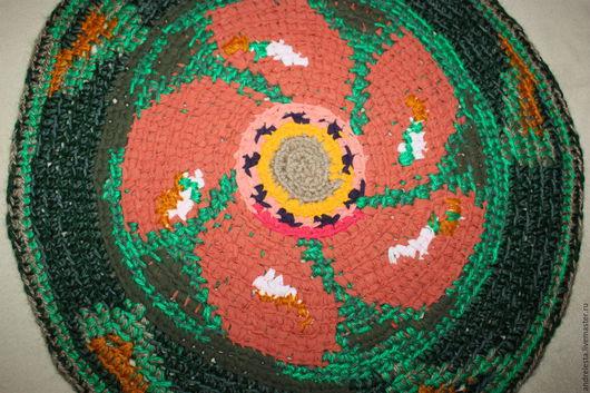 """Текстиль, ковры ручной работы. Ярмарка Мастеров - ручная работа. Купить Коврик вязаный крючком """"Настурция"""". Handmade. Комбинированный"""