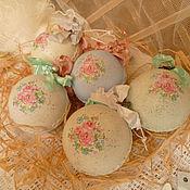"""Подарки к праздникам ручной работы. Ярмарка Мастеров - ручная работа елочные шары"""" Цветочно-кружевные"""". Handmade."""