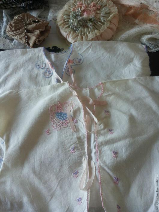 Одежда. Ярмарка Мастеров - ручная работа. Купить Пара старинных детских рубашечек-ручная вышивка. Handmade. Комбинированный, Старинная вышивка