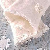 Аксессуары handmade. Livemaster - original item Womens White mittens mittens Mittens Mittens felted boho. Handmade.