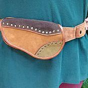 Сумки и аксессуары handmade. Livemaster - original item Copy of Copy of Leather and suede waist bag. Handmade.