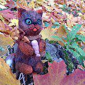 Куклы и игрушки ручной работы. Ярмарка Мастеров - ручная работа Колбаскин -валяный котик из шерсти.. Handmade.