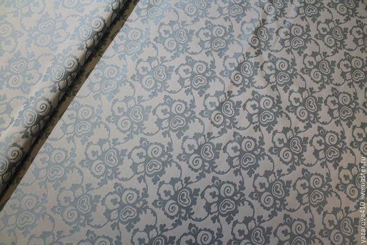 Шитье ручной работы. Ярмарка Мастеров - ручная работа. Купить Ткань,жаккард-тафта,с цветочным орнаментом,в голубой гамме,Франция. Handmade.