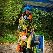 Пальто ручной работы. Ярмарка Мастеров - ручная работа Дизайнерское пальто из хлопка демисезонное лёгкое полупальто. Handmade.