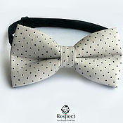 Аксессуары handmade. Livemaster - original item Grey tie in black Swiss dot Polka Dot Respect. Handmade.
