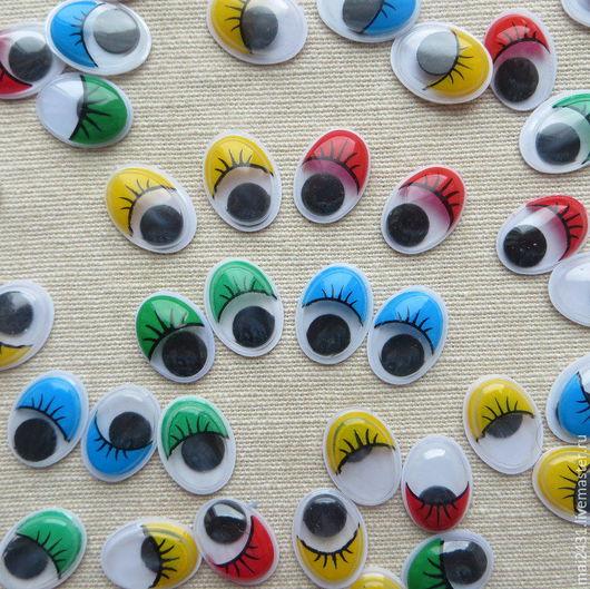 Глазки для игрушек овальные 12x16мм, пара.