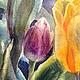 Наталия Хохлова. Жёлтые тюльпаны. Фрагмент