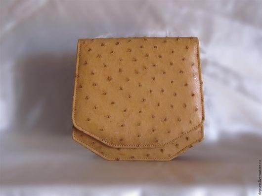 Женские сумки ручной работы. Ярмарка Мастеров - ручная работа. Купить Сумочка из страусиной кожи. Handmade. Оранжевый, кожа страуса