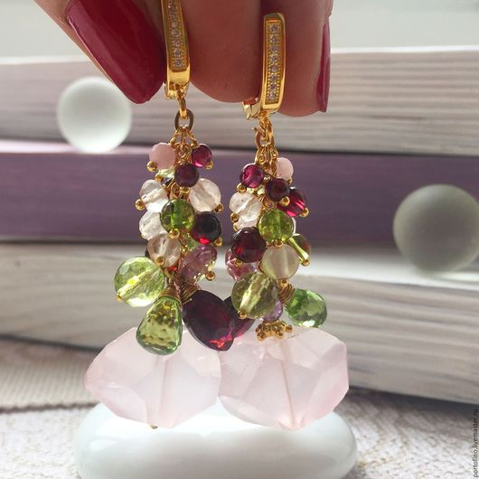 """Серьги ручной работы. Ярмарка Мастеров - ручная работа. Купить Серьги """"Сакура цветёт"""". Handmade. Бледно-розовый, подарок девушке"""
