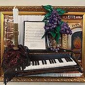 "Картины и панно handmade. Livemaster - original item ""Маэстро"" - картина из натуральной кожи. Handmade."