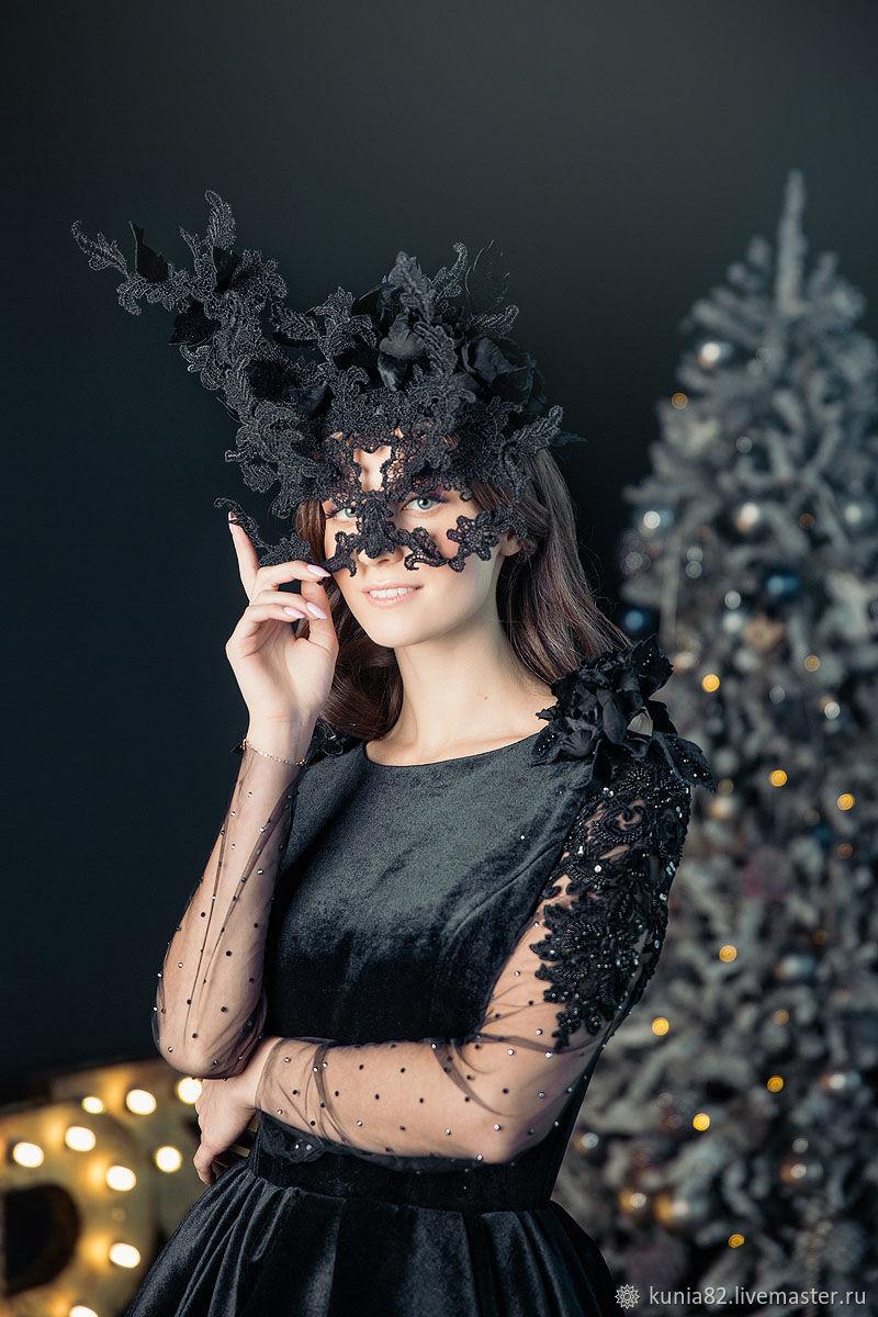 """Шляпка- маска """" Призрак оперы"""", Hats1, St. Petersburg,  Фото №1"""