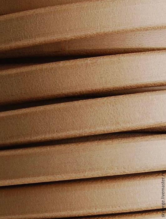 Для украшений ручной работы. Ярмарка Мастеров - ручная работа. Купить Кожаный шнур РЕГАЛИЗ, 10x6 мм, натуральный. Handmade.