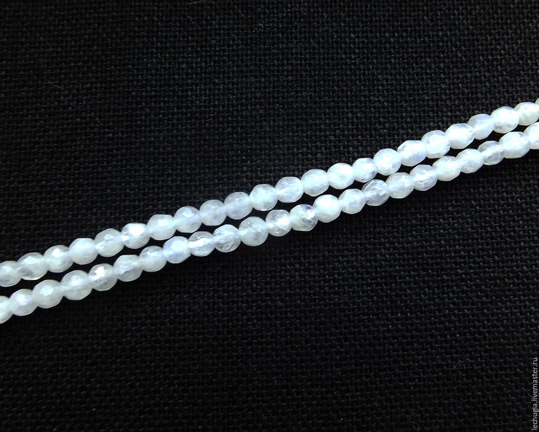 Для украшений ручной работы. Ярмарка Мастеров - ручная работа. Купить Лунный камень граненый /шарик, 3 мм/. Handmade.