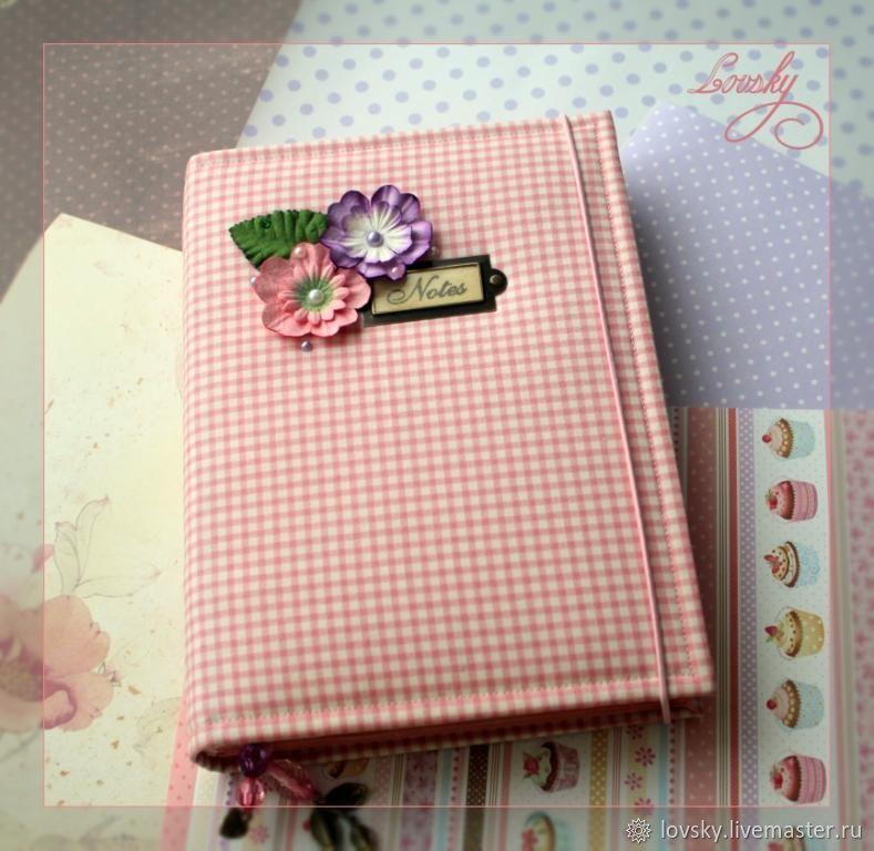 """Блокнот """"Розовая  клетка виши"""", Notebooks, Naro-Fominsk,  Фото №1"""