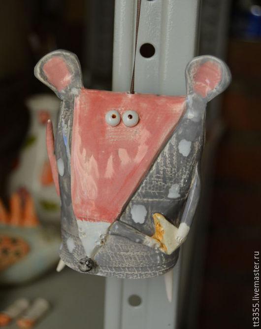 Элементы интерьера ручной работы. Ярмарка Мастеров - ручная работа. Купить Колокольчик мыша с сыром. Handmade. Мышка, колокольчики, колокольчик
