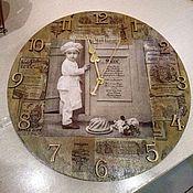 """Для дома и интерьера ручной работы. Ярмарка Мастеров - ручная работа Часы """"Поварёнок"""".. Handmade."""