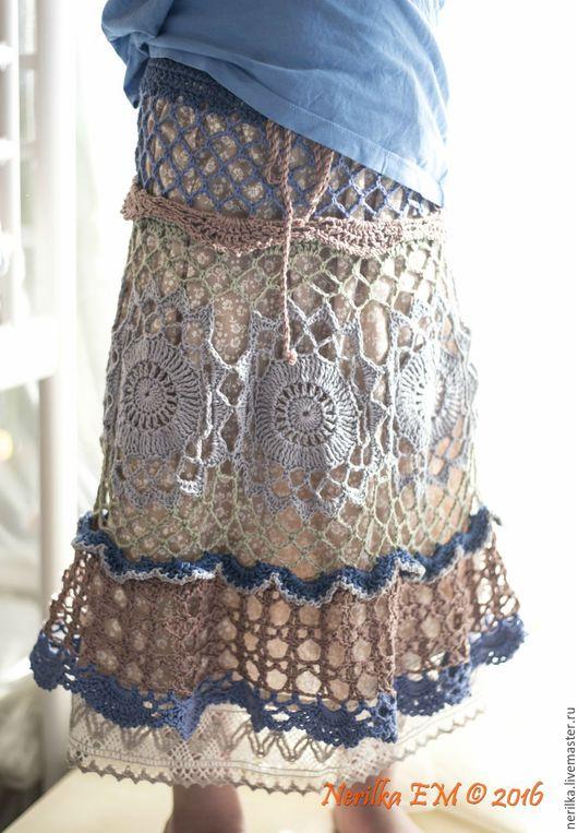 Одежда для девочек, ручной работы. Ярмарка Мастеров - ручная работа. Купить Юбка Кантри. Handmade. Комбинированный, батист, бохо, фольклор