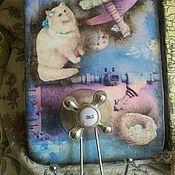 """Для дома и интерьера ручной работы. Ярмарка Мастеров - ручная работа """"Голубой водопровод"""" вешалка в детскую. Handmade."""