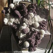 Аксессуары ручной работы. Ярмарка Мастеров - ручная работа шарф из цветов. Handmade.