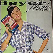 Книги винтажные ручной работы. Ярмарка Мастеров - ручная работа Beyer mode 4 /1960 Бурда Моден. Handmade.