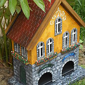 "Для дома и интерьера handmade. Livemaster - original item Tea house of the double ""Green & Black"". Handmade."