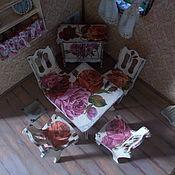 Куклы и игрушки ручной работы. Ярмарка Мастеров - ручная работа Кукольная мебель, кухня, столик для кукол, декупаж.. Handmade.