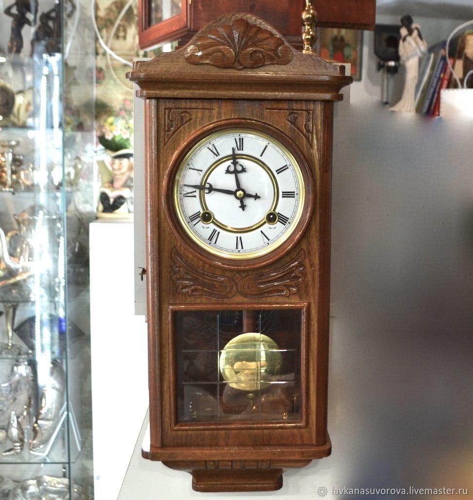Vintage Interior Decor. Livemaster - handmade. Buy WALL CLOCK WITH FIGHT mechanics tree.Watch, watch mechanical