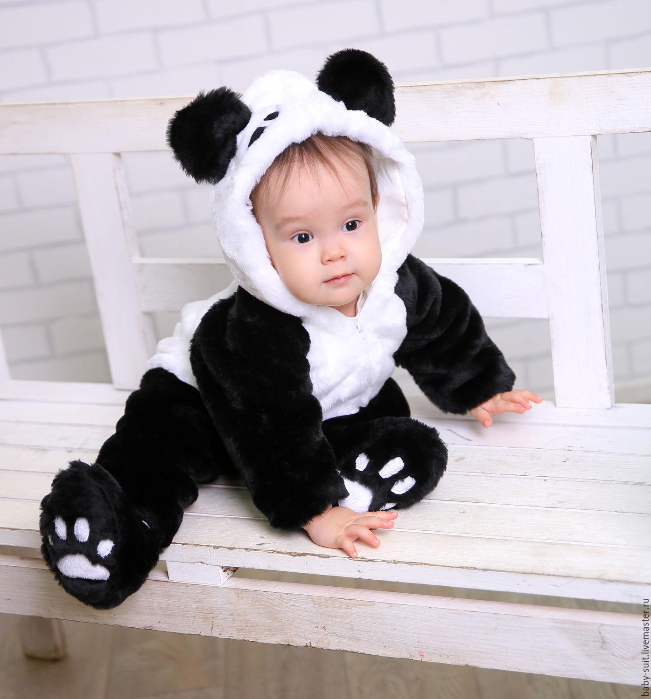 Карнавальный новогодний костюм Панды для малышей и детей – купить в ... d47ae48723d99