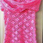 """Одежда ручной работы. Ярмарка Мастеров - ручная работа Сетка  крючком """" Розовый зефир"""". Handmade."""