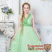"""Одежда ручной работы. Ярмарка Мастеров - ручная работа Платье """"Жива"""" зеленая. Handmade."""