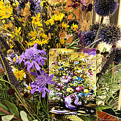 Открытки ручной работы. Ярмарка Мастеров - ручная работа Почтовая открытка Букет полевых цветов в вазе. Handmade.